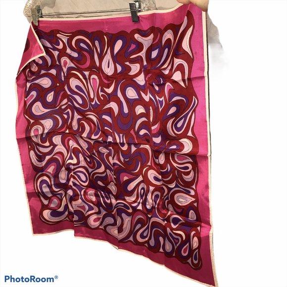 Vintage pink purple Italy puccci look scarf